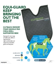 Equi Guard Memory Foam  Wither Cutback Support Pad At Equigear